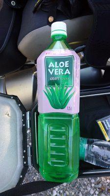 Entpuppte sich als köstlicher Geheimtipp: Aloe-Vera-Saft mit Fruchtstücken.
