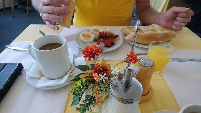 Mit einem leckeren Frühstück kann der Tag beginnen!