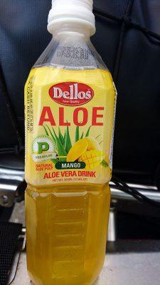 Gibt es auch mit Mangoaroma: Aloe-Vera-Getränk mit Fruchtstücken.