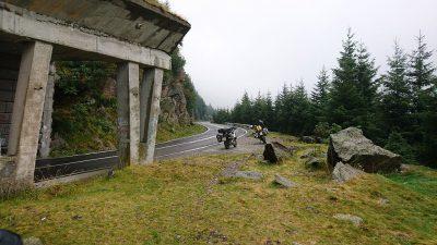 Das Wetter wird schlechter auf dem Weg hinauf zum Transfogarasch.