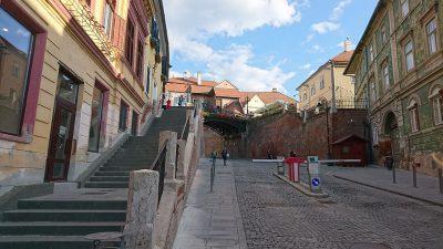 Lügenbrücke am Kleinen Markt in Hermannstadt.