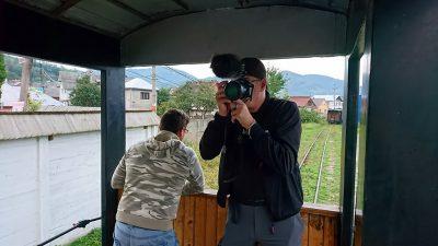 Es geht los und Fritze ist am Fotos schießen.